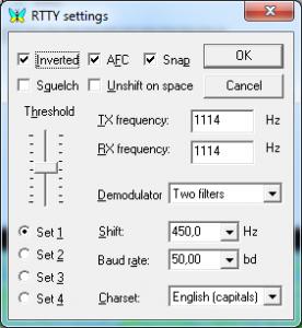 Configuration MixW pour réception DDK9